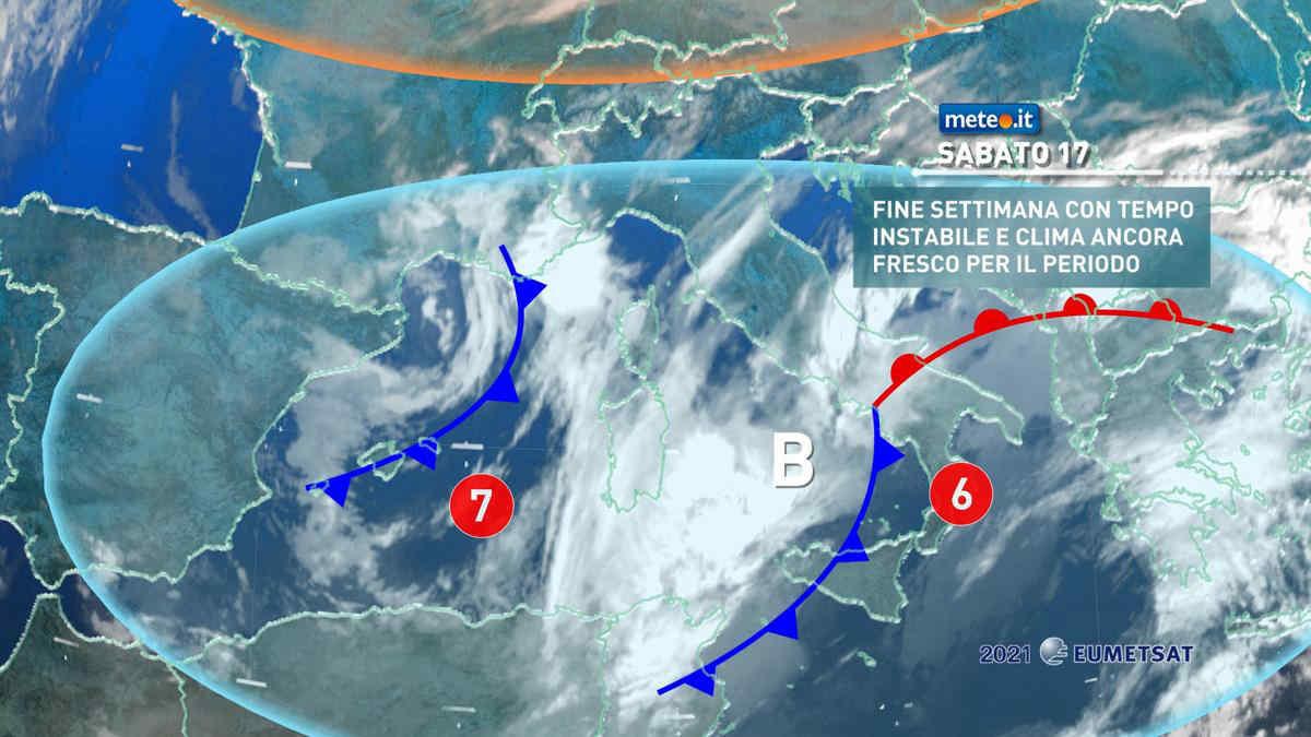 Meteo, sabato 17 aprile spiccata variabilità. Domenica perturbazione n.7
