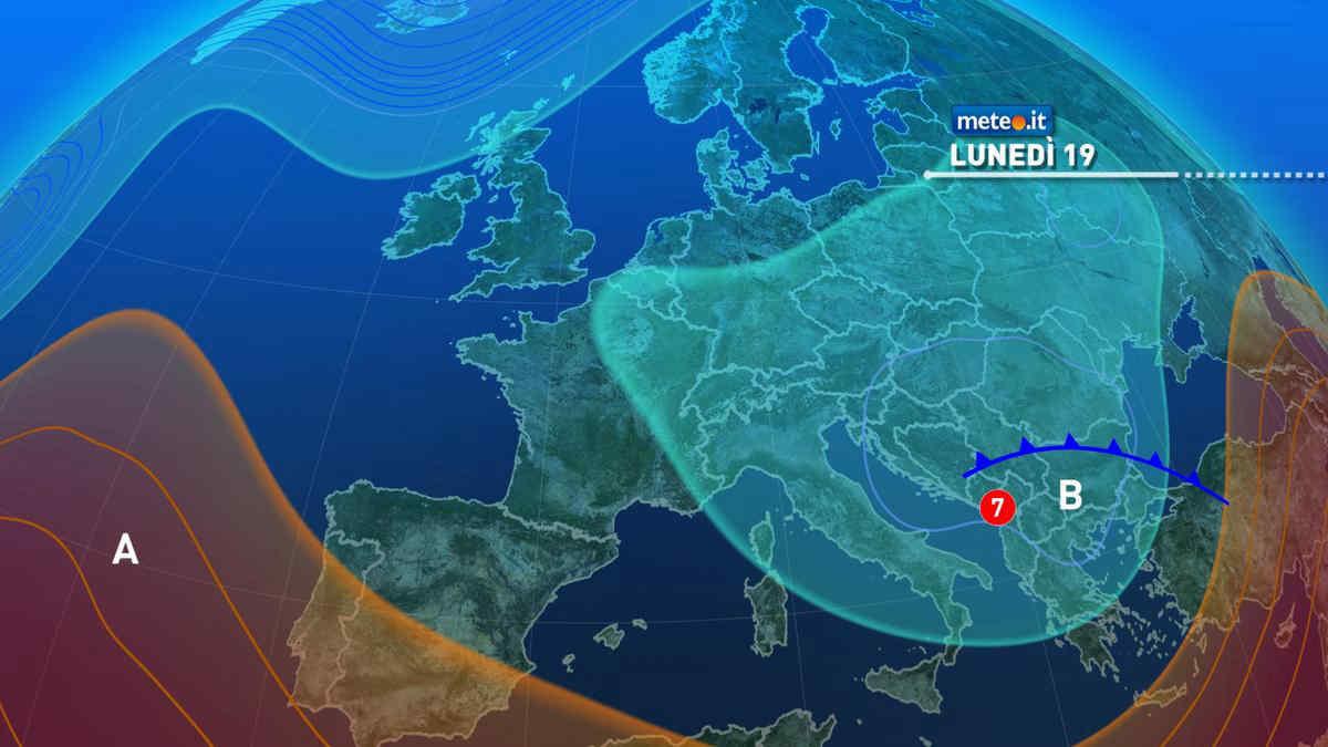 Meteo, lunedì 19 aprile tempo ancora instabile specie al Centro-Sud