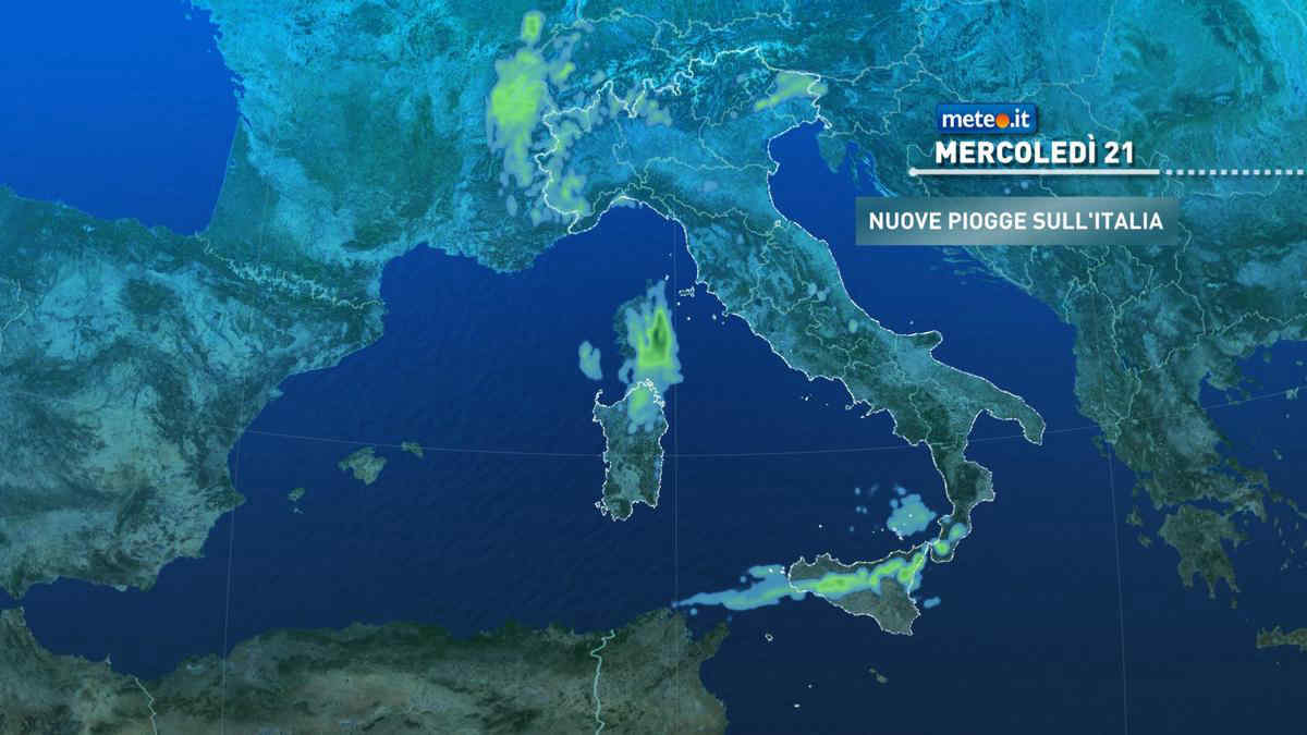 Meteo, mercoledì 21 aprile fase piovosa su alcune regioni