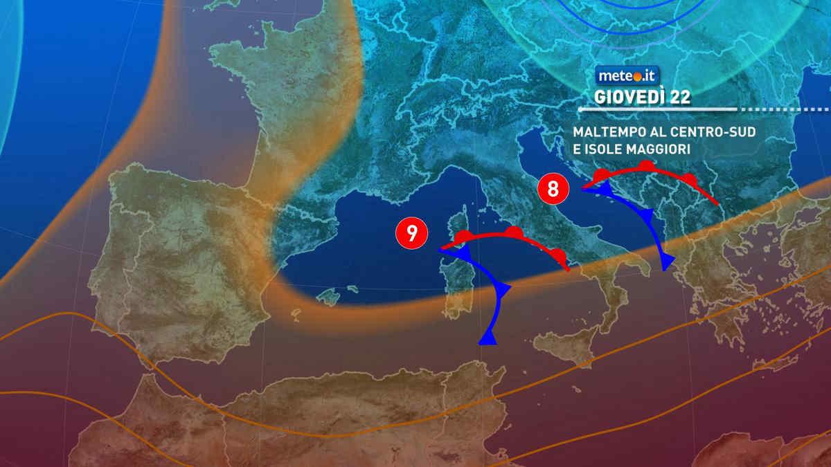 Meteo, 22 aprile di pioggia per molte regioni: i dettagli