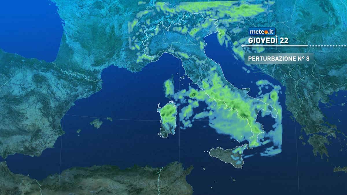 Meteo, 22 aprile con piogge e temporali: nel mirino soprattutto Centro-Sud e Isole maggiori