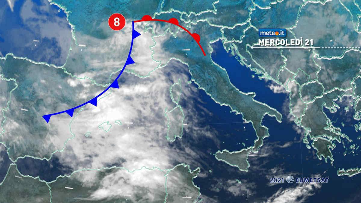 Meteo, perturbazione sull'Italia: attraverserà il Paese tra il 21 e il 22 aprile