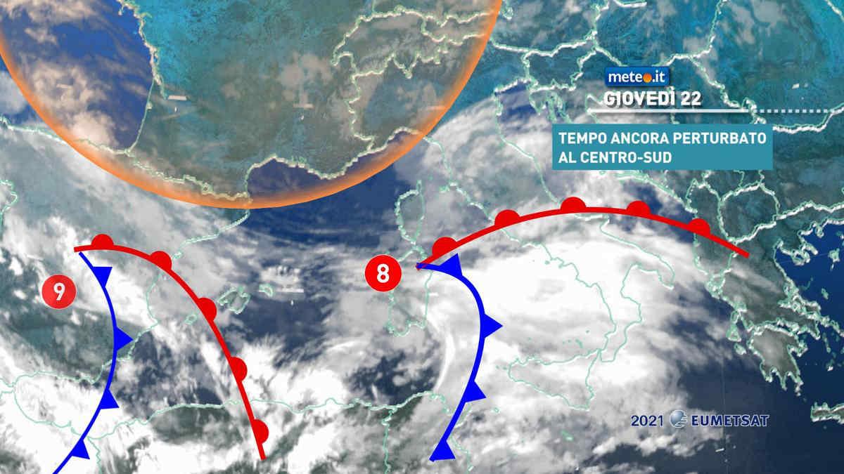 Meteo, 22 aprile piovoso su parte del Centro-sud e Isole