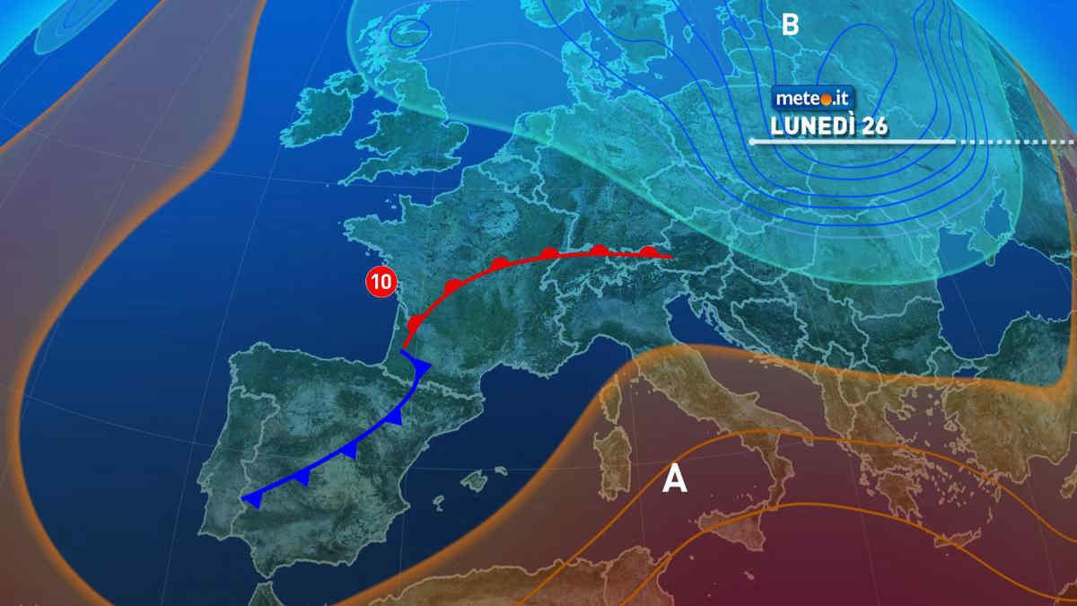 Meteo, tra il 26 e il 27 aprile pioggia al Centro-nord e caldo al Sud