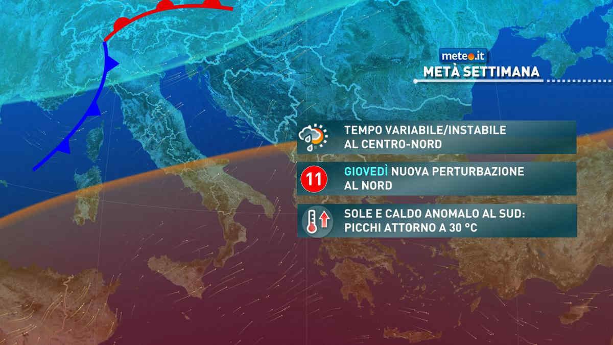 Meteo, la pioggia insiste sul Centro-Nord anche dopo il 28 aprile