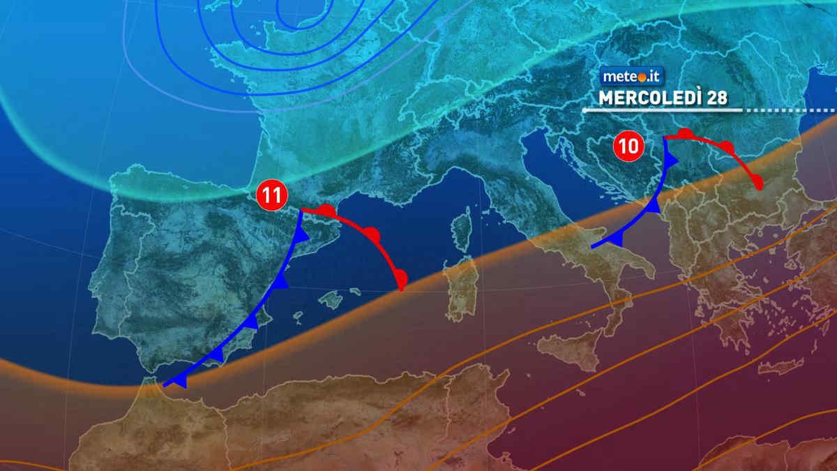 Meteo: 28 aprile con qualche pioggia, e domani arriva una nuova perturbazione