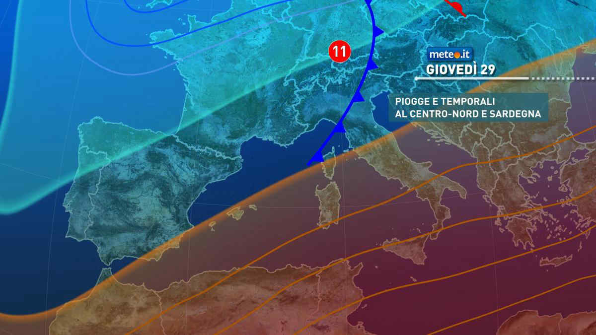 Meteo, 29 aprile con nuova perturbazione al Centro-nord