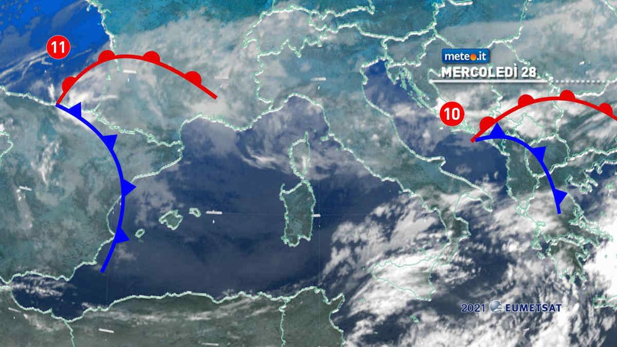 Meteo, 28 aprile instabile al Centro poi nuove perturbazioni