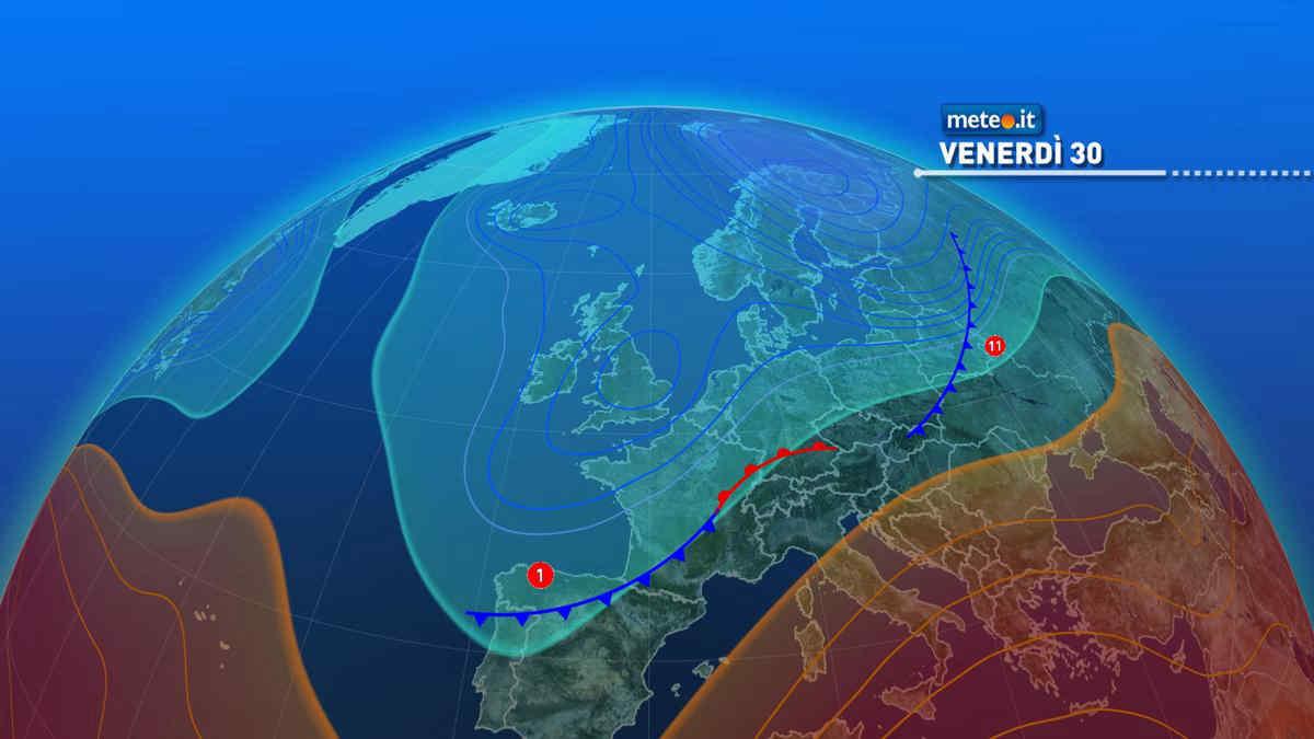 Meteo, venerdì 30 aprile instabile al Centro-Nord e caldo al Sud