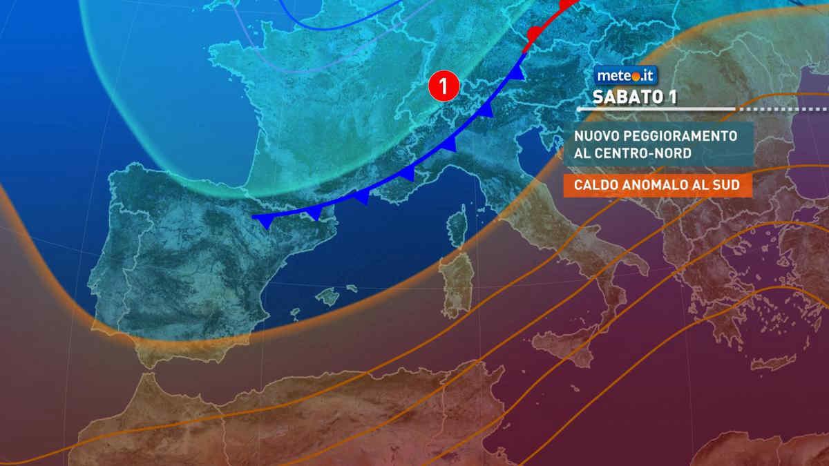 Meteo, Primo Maggio a rischio forte maltempo. Caldo estivo al Sud