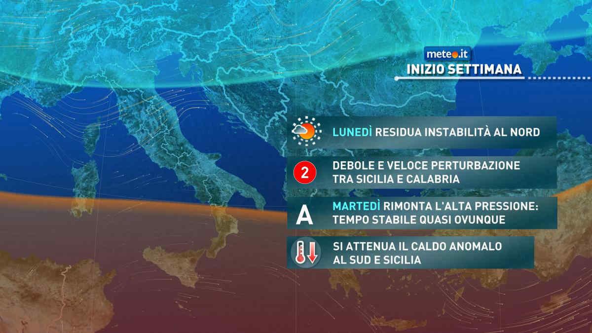 Meteo, migliora tra il 3 e il 4 maggio con caldo in attenuazione al Sud
