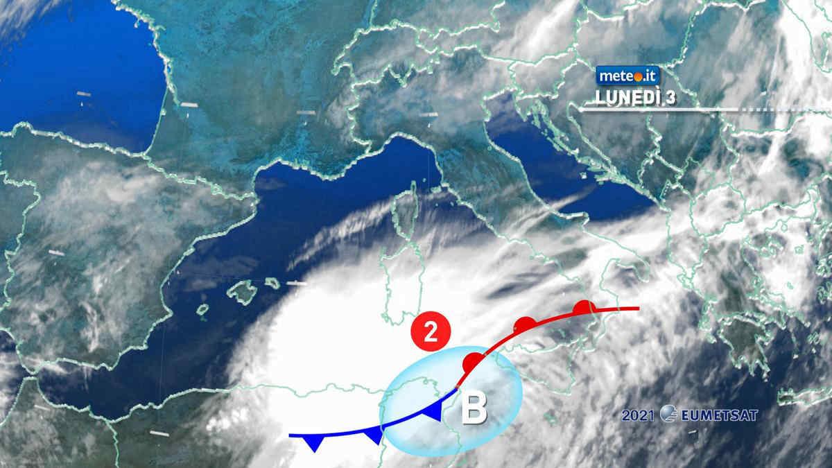 Meteo, 3 maggio con qualche pioggia al Sud: le zone coinvolte
