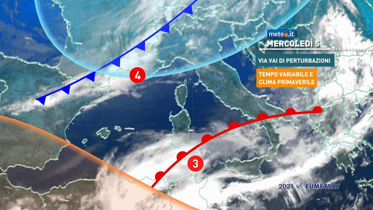 Meteo, 5 maggio molto variabile sull'Italia