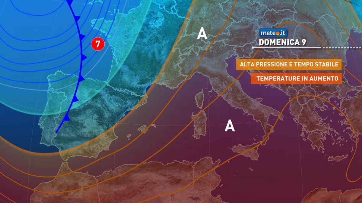 Meteo, 9 maggio con sole e clima mite: punte oltre i 25 gradi