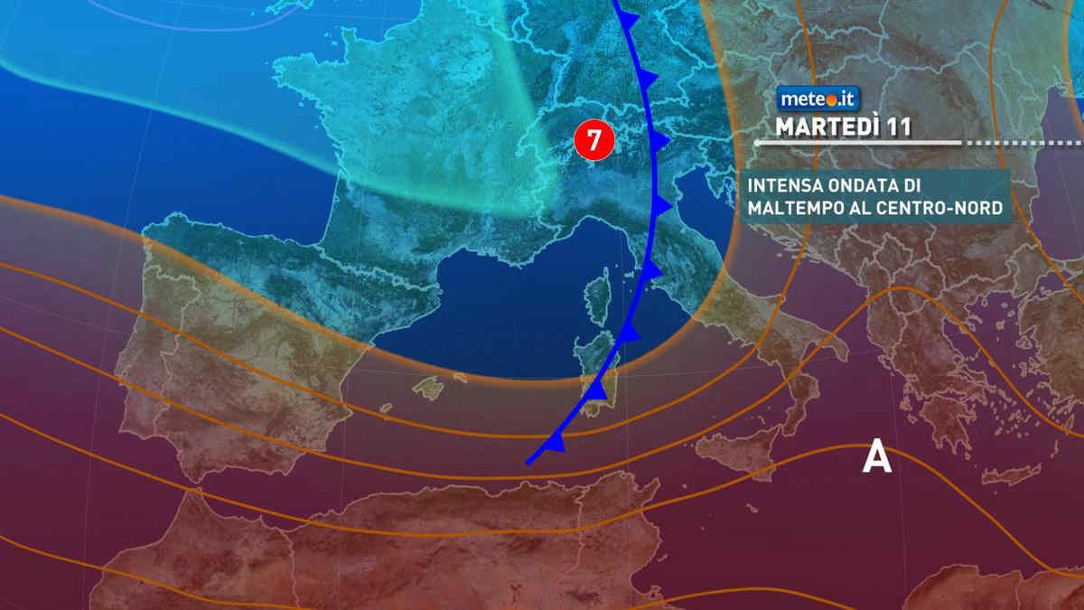 Meteo, martedì 11 maggio rischio di forte maltempo: le zone coinvolte