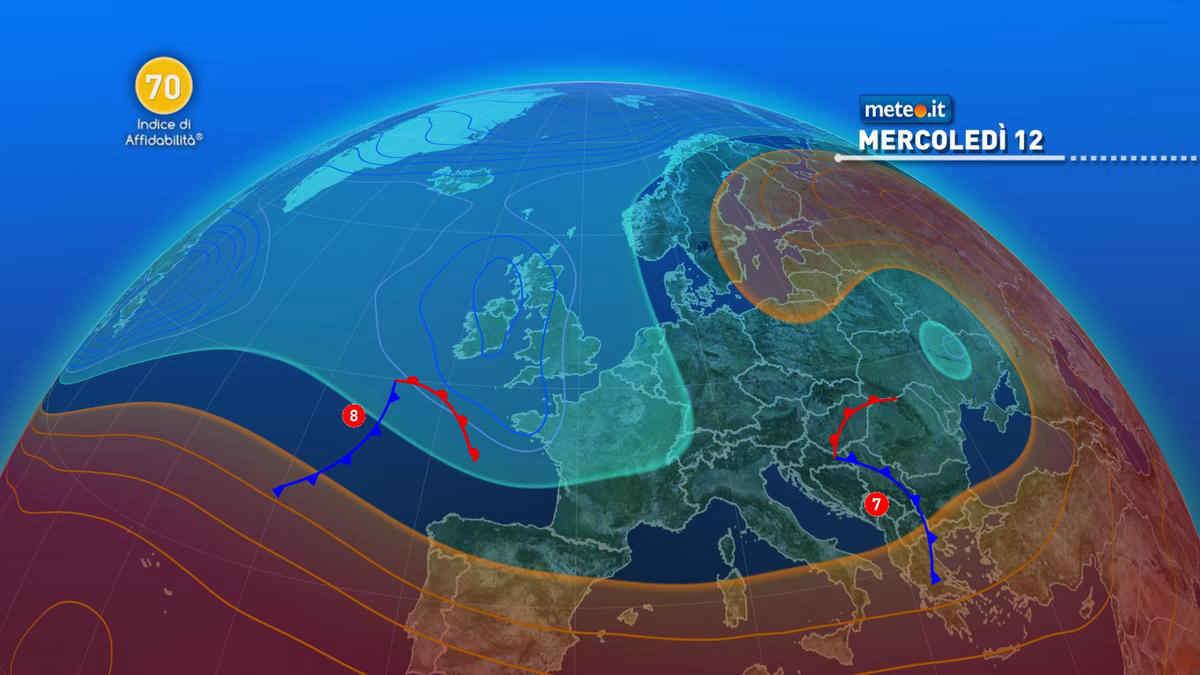 Meteo, 12 maggio con atmosfera instabile e calo termico