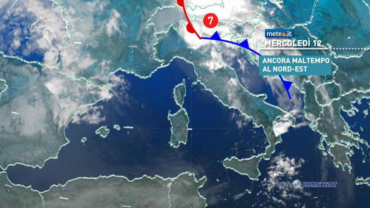 Meteo, 12 maggio instabile e più fresco sull'Italia