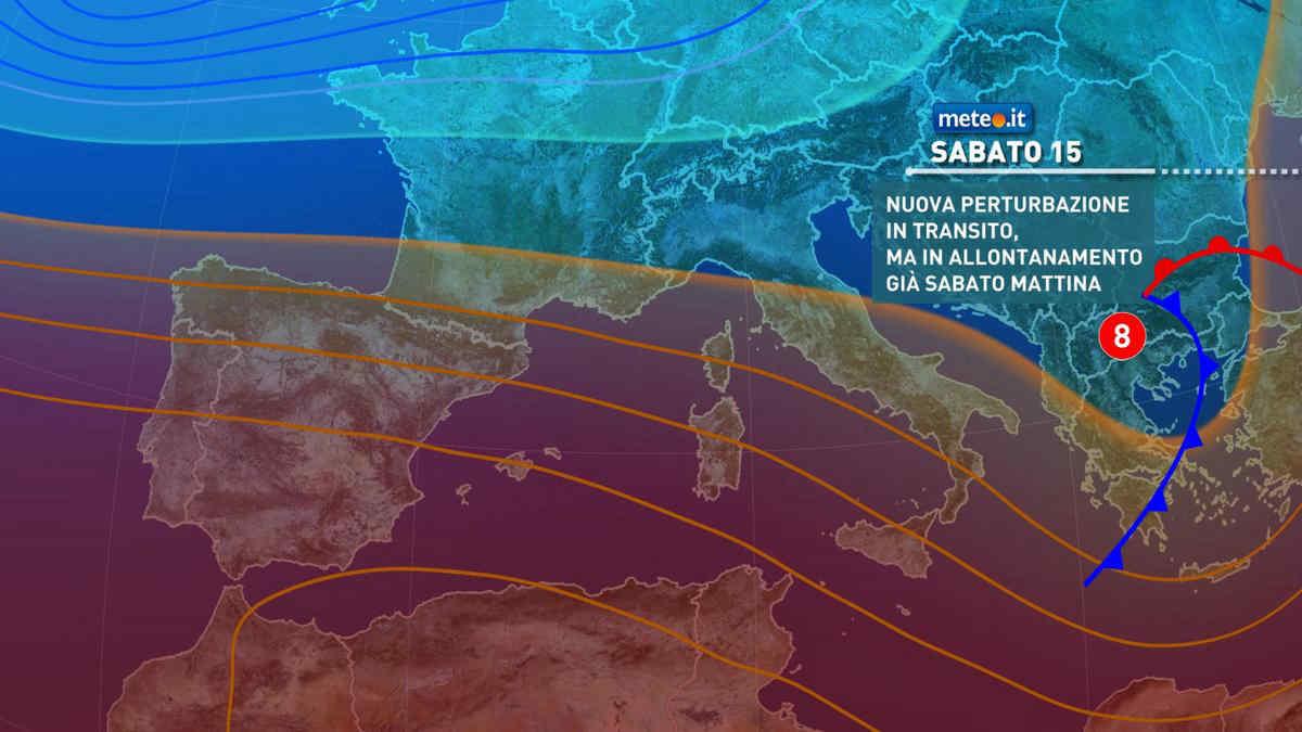 Meteo, oggi venerdì 14 maggio, arriva una perturbazione che entro domani attraverserà l'Italia