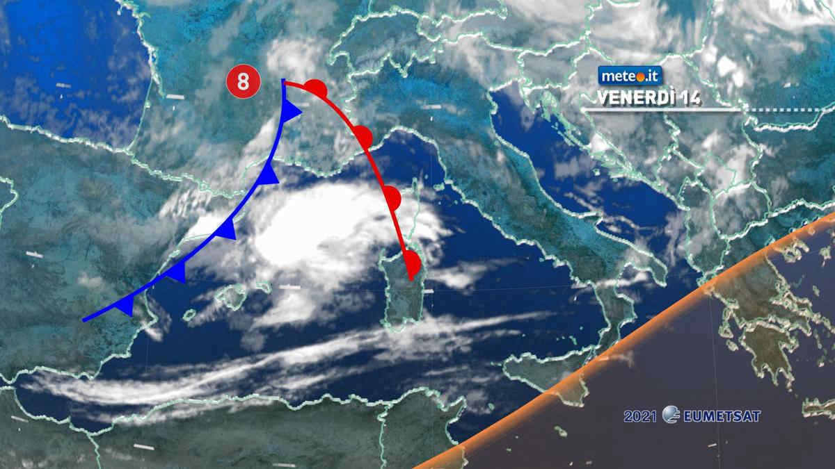 Meteo, 14 maggio con nuova perturbazione in arrivo sull'Italia