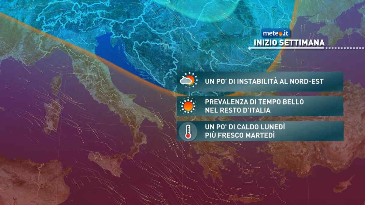 Meteo, inizio settimana del 17-21 maggio meno instabile quasi ovunque