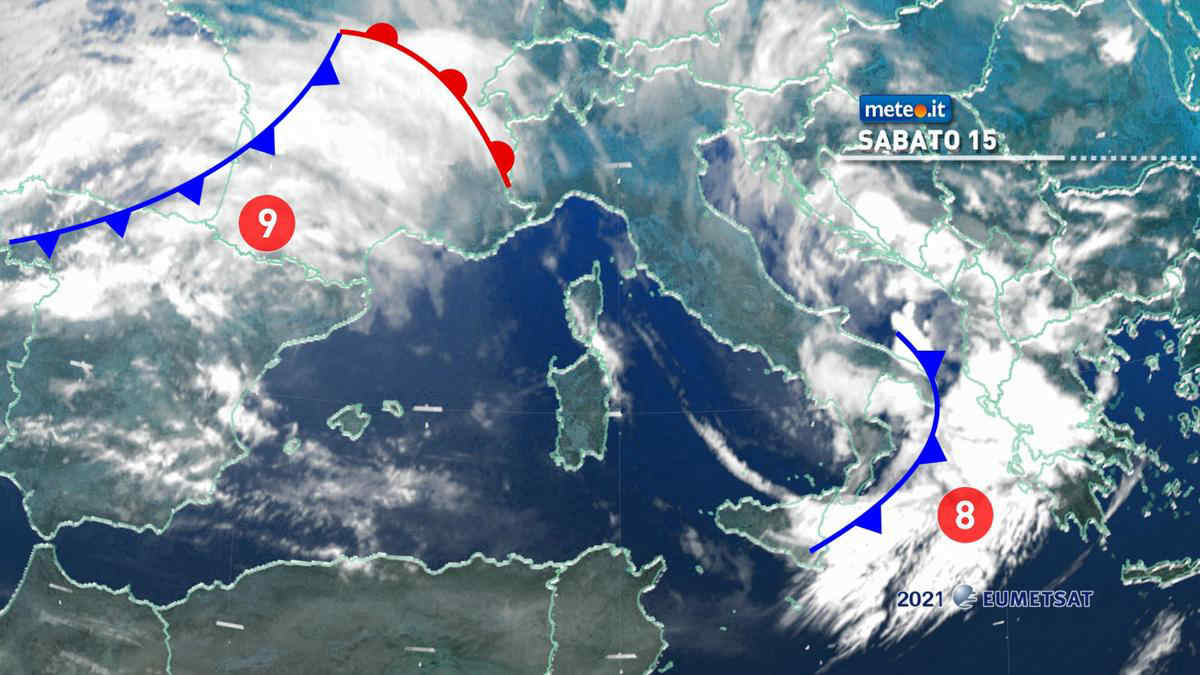 Meteo, sabato 15 maggio con nuvole e qualche pioggia