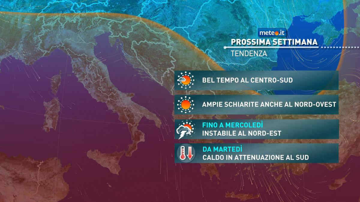Meteo, da martedì 18 maggio caldo in attenuazione al Sud