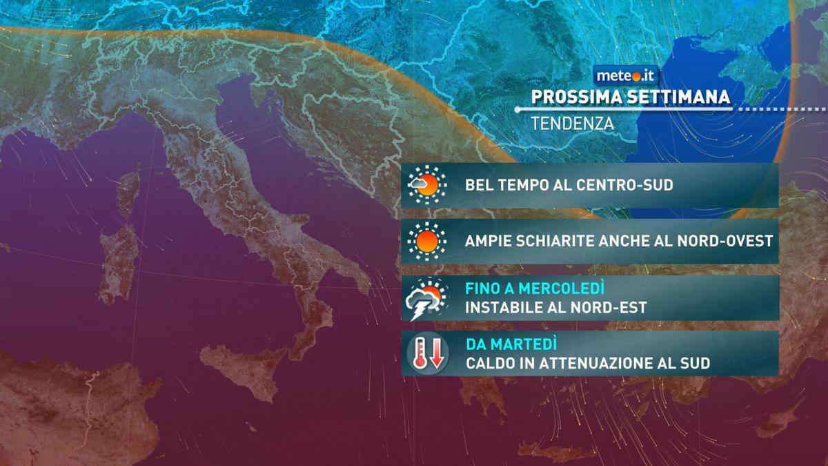 Meteo, da martedì 18 maggio caldo in attenuazione al Sud