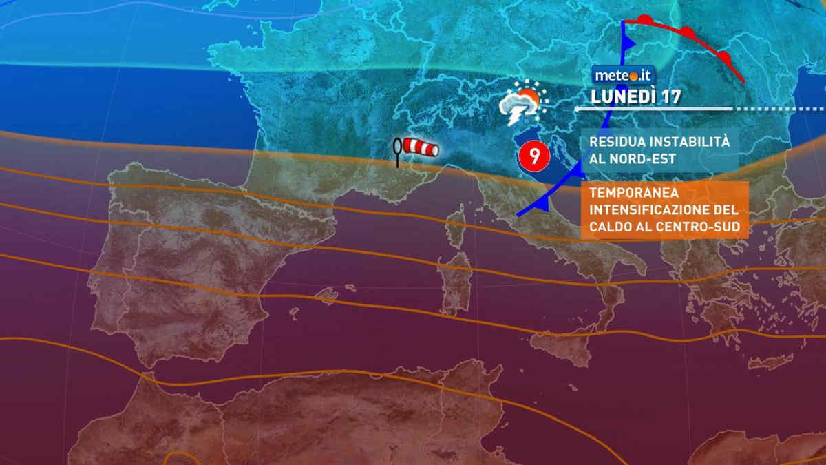 Meteo, lunedì fase calda al Centro-sud: punte fino a 30 gradi