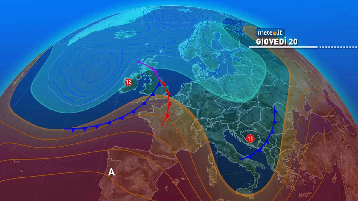 Meteo, nuovi impulsi instabili giovedì per 20 maggio