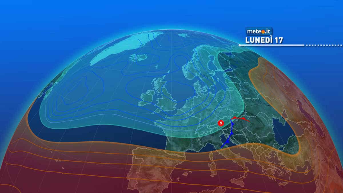Meteo, lunedì 17 maggio instabile al Nordest e clima estivo al Sud