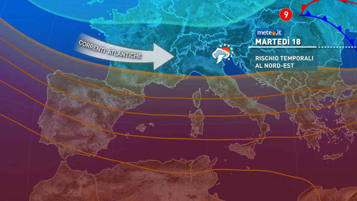 Meteo, martedì 18 maggio tempo instabile e aria più fresca al Sud