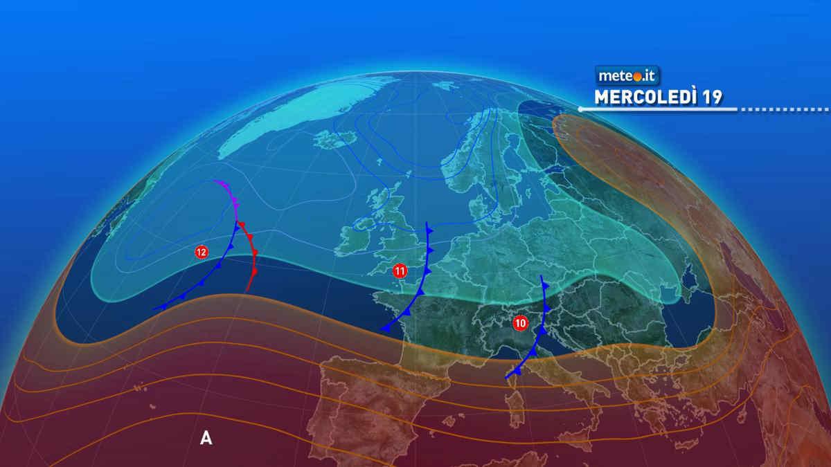 Meteo, 19 maggio a rischio pioggia per parte del Centro-Nord