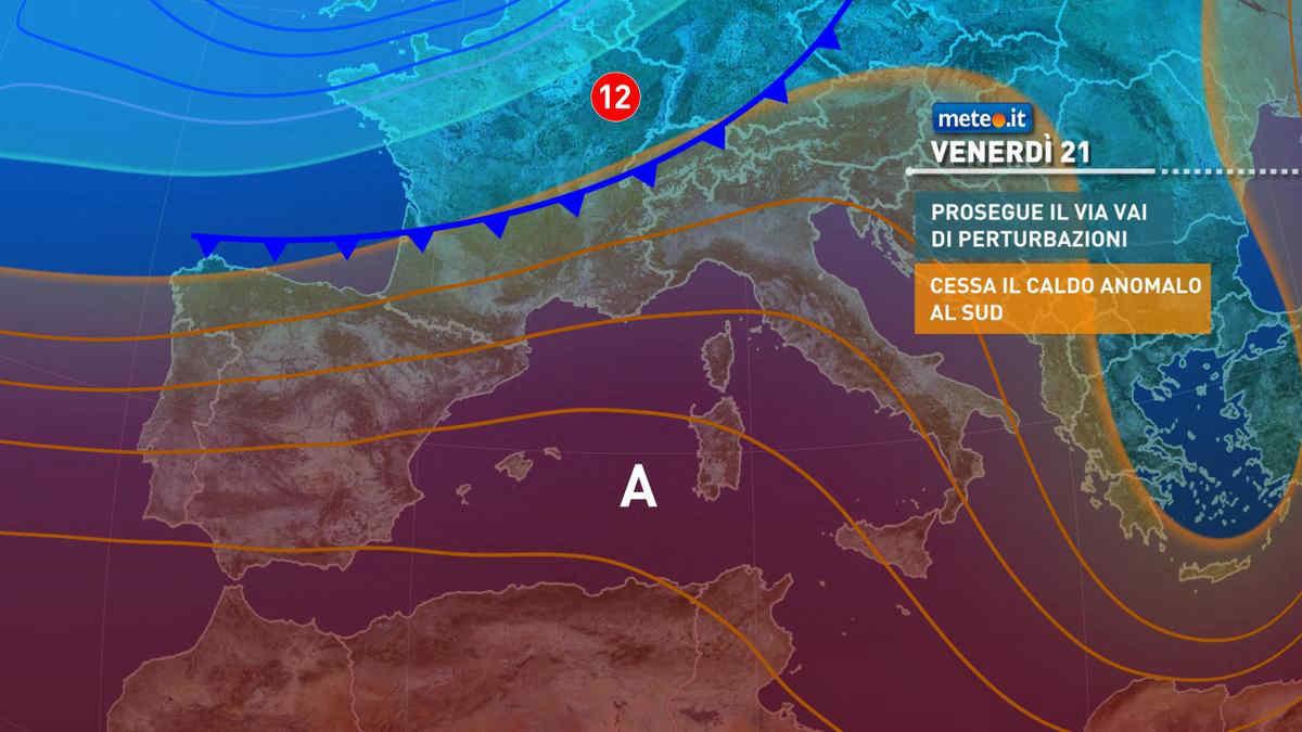 Meteo, nuova perturbazione sul Nord Italia il 21 maggio