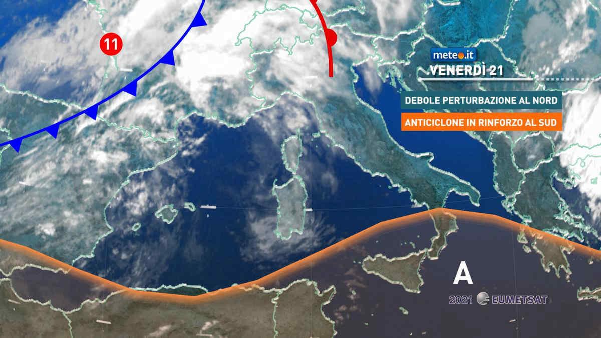 Meteo, 21 maggio con nubi al Nord e caldo in aumento al Centro-sud