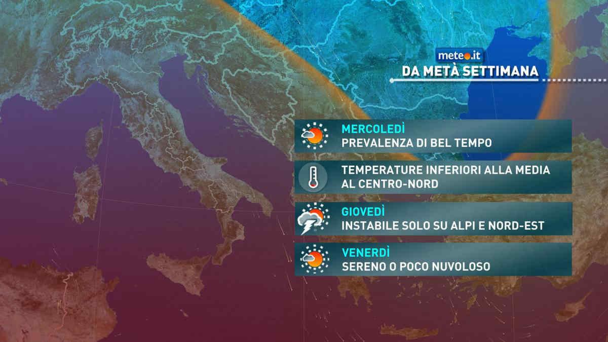 Meteo, da mercoledì 26 maggio condizioni per lo più buone e temperature nella norma