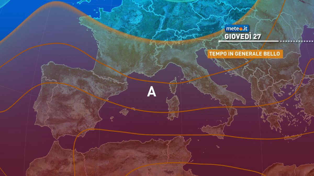 Meteo, tempo stabile anche dopo il 27 maggio