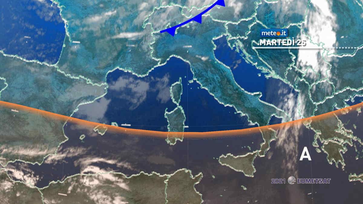 Meteo 25 maggio: tempo più stabile per l'Italia, qualche pioggia residua al Nord-Est