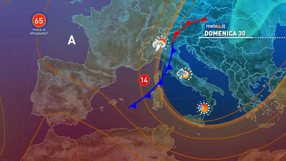 Meteo, nel weekend del 29-30 maggio aumento dell'instabilità