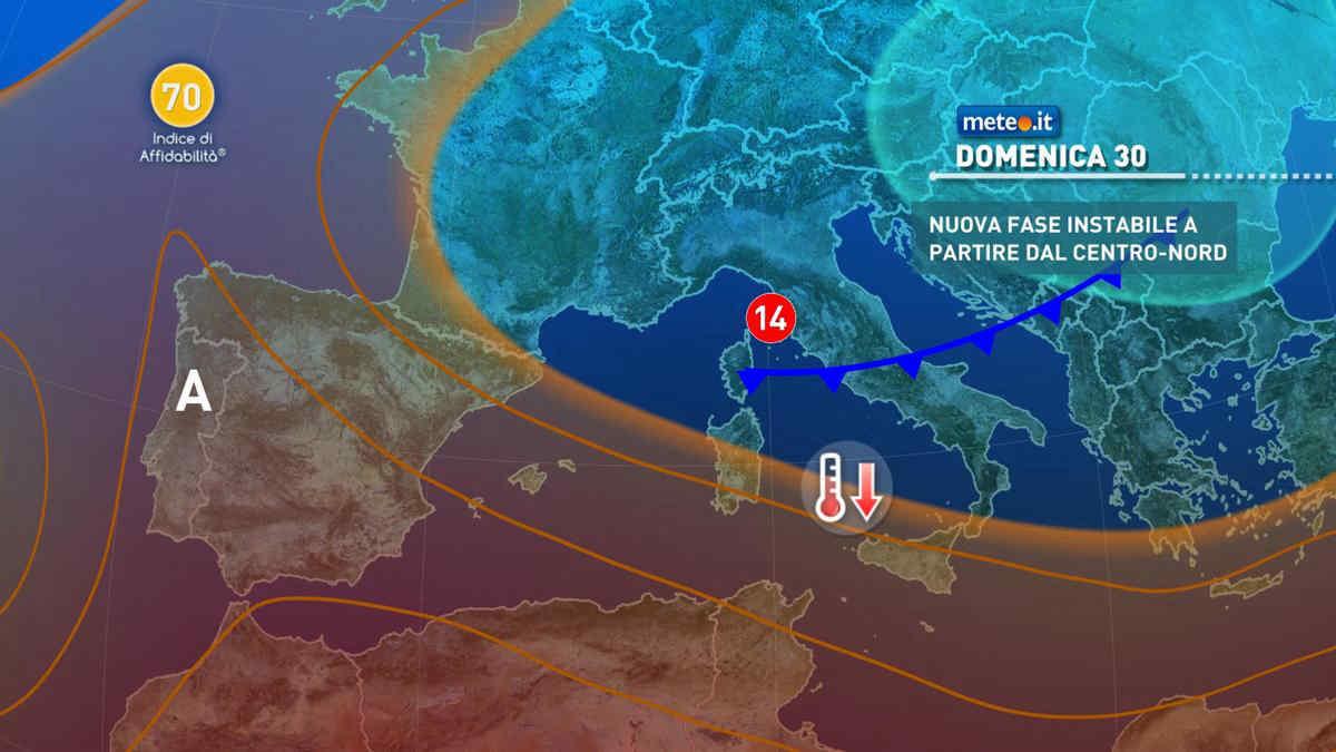 Meteo, domenica 30 maggio fase instabile al Centro-sud
