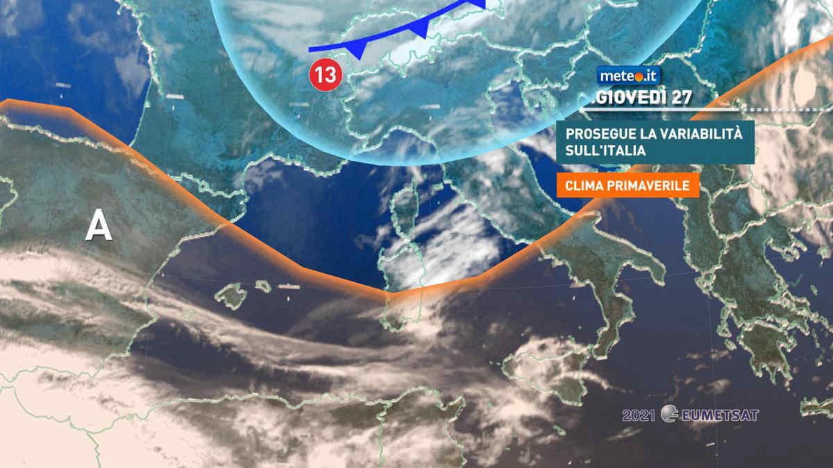 Meteo, 27 maggio in prevalenza soleggiato ma instabile al Nordest
