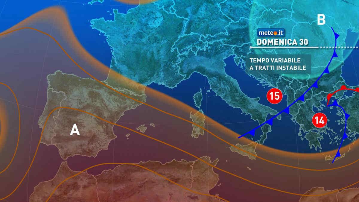 Meteo, 30 maggio con sole al Nord rischio temporali al Centro-sud