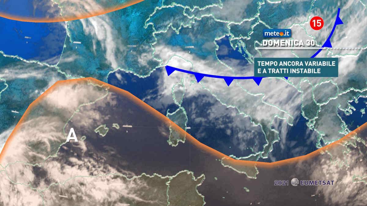 Meteo, domenica 30 maggio un po' instabile al Centro-sud