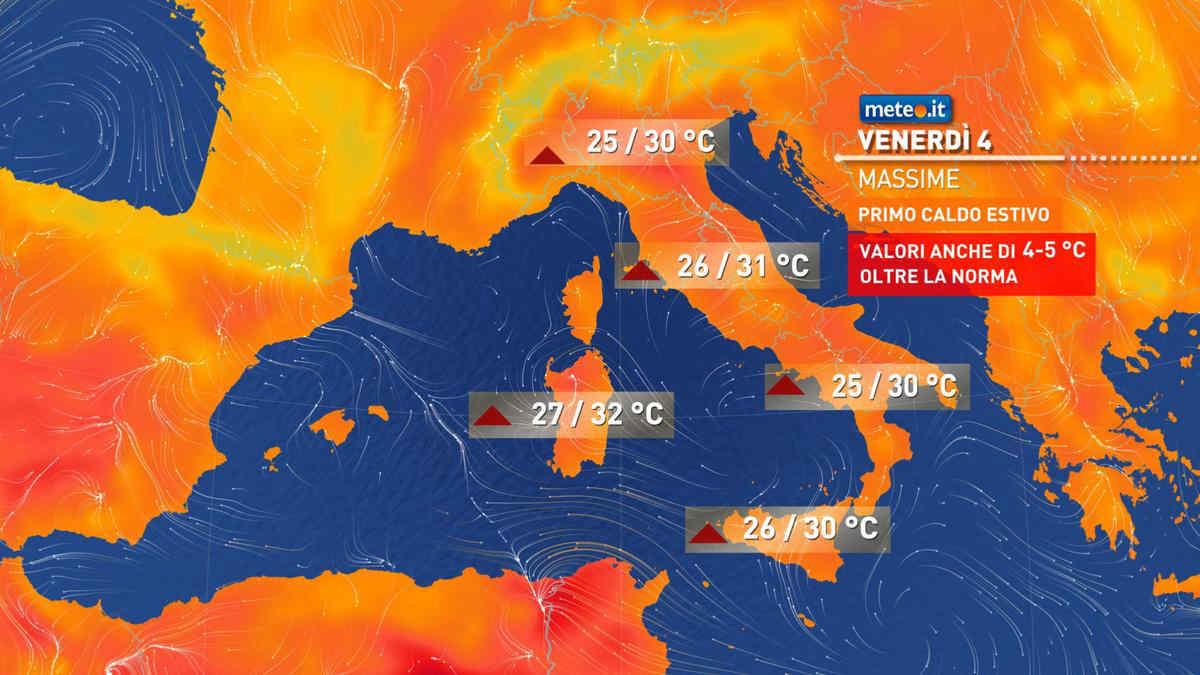 Meteo ITALIA: DOMENICA, Massima ALLERTA per TEMPORALI e GRANDINATE