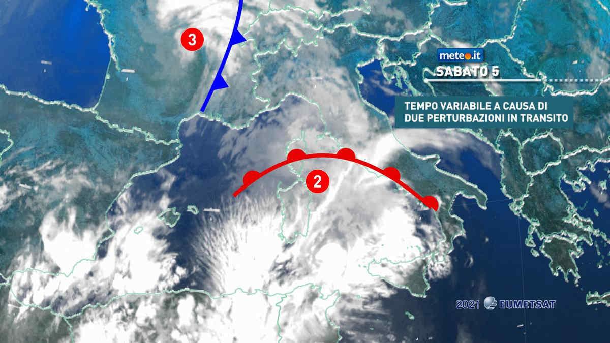 Meteo, nel weekend del 5-6 giugno torna il rischio temporali