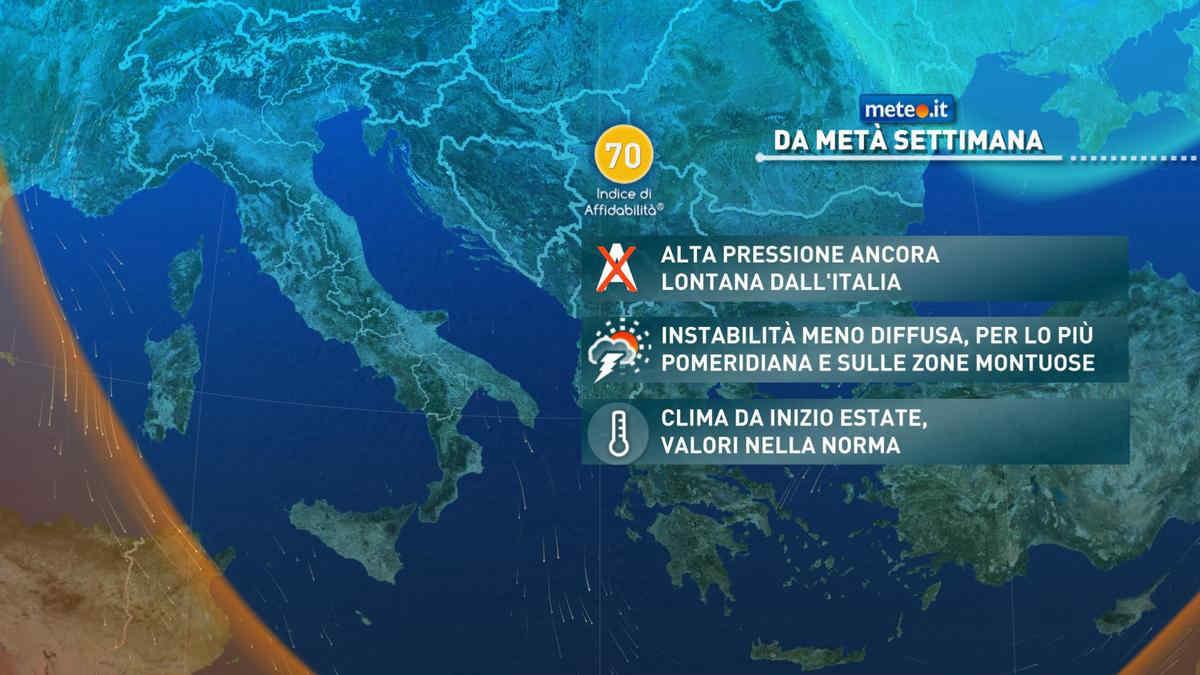Meteo, temporali protagonisti anche dopo il 9 giugno