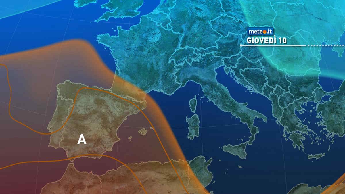 Meteo 10 giugno: Italia ancora ai margini dell'alta pressione, nel pomeriggio aumenta il rischio temporali