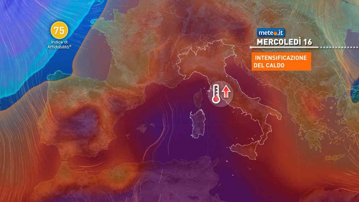 Meteo, caldo in aumento sull'Italia nella settimana del 14-18 giugno