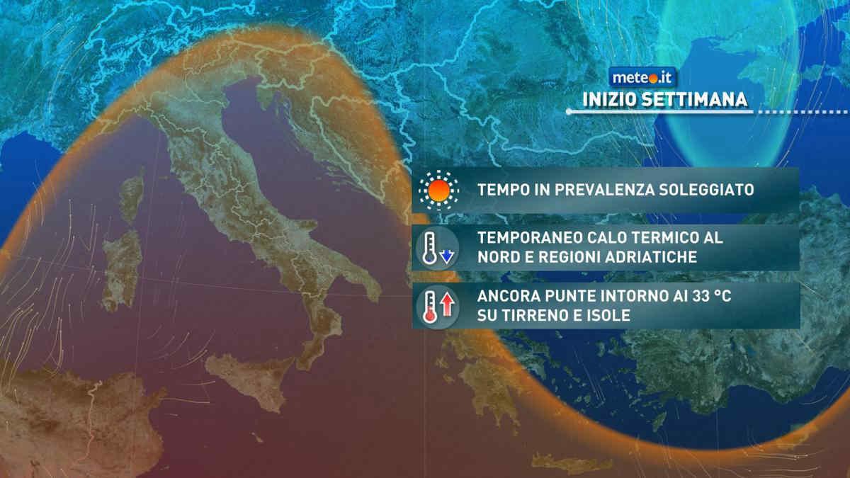 Meteo, il 14 giugno si attenua il caldo su alcune regioni