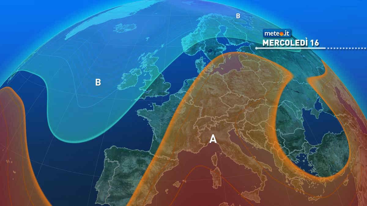 Meteo, 16 giugno con l'alta pressione sull'Italia: clima estivo