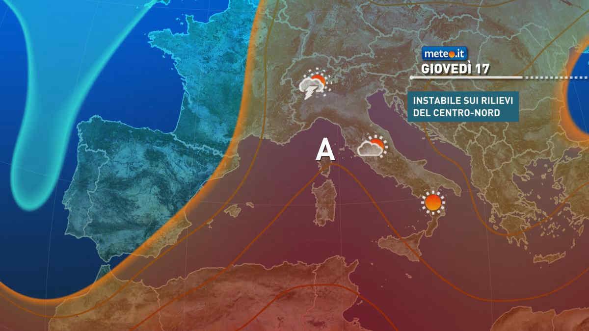 Meteo, 17 giugno caldo afoso in aumento con qualche temporale